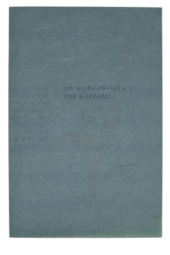 On Wordsworth's The Daffodils cover