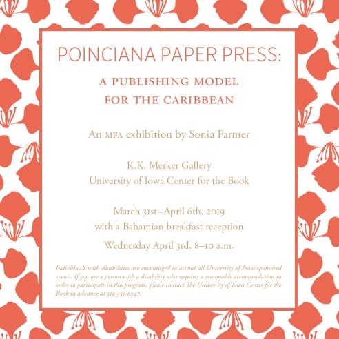 PPP MFA exhibition invite Sonia Farmer squ