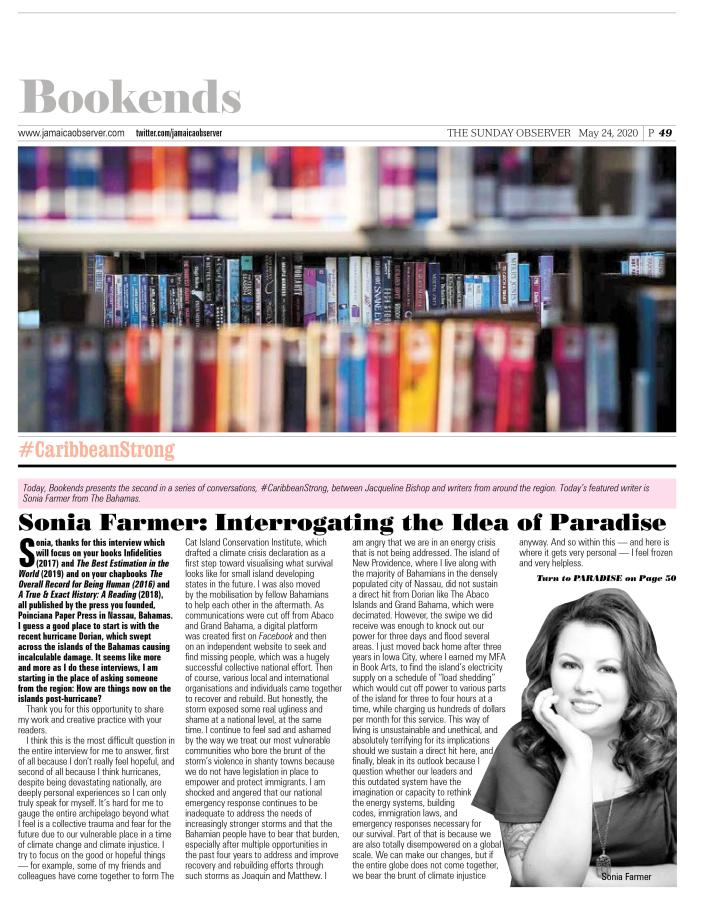Sonia Farmer bookends interview 1